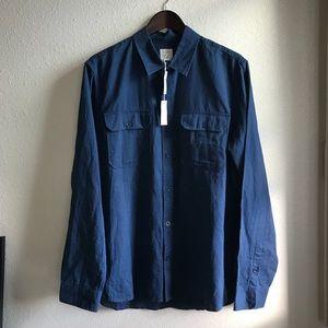 NWT gap linen cotton long sleeve shirt